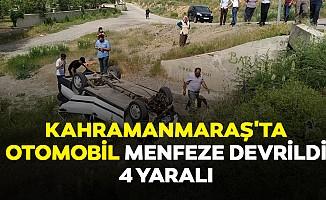 Kahramanmaraş'ta Otomobil Menfeze Devrildi: 4 Yaralı