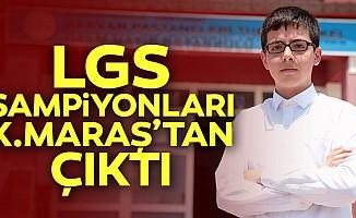 LGS şampiyonları Kahramanmaraş'tan çıktı