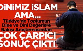 Türkiye'de, Toplumun Dine ve Dini Değerlere Bakışıyla ilgili korkunç sonuç