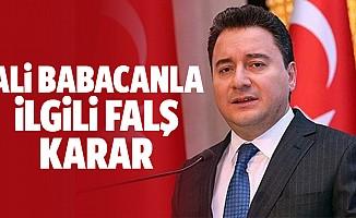 Başsavcılıktan Ali Babacan kararı…