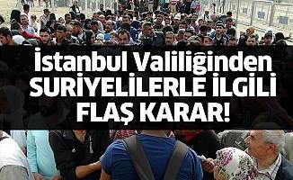 İstanbul Valiliği, Suriyelilere süre verdi