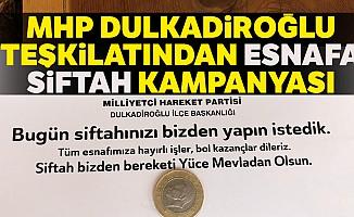 MHP Dulkadiroğlu Teşkilatından Siftah Kampanyası