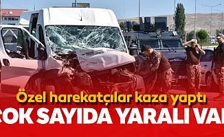 Özel harekatçılar kaza yaptı; çok sayıda yaralı var
