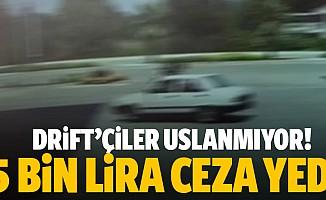 Kahramanmaraş'ta drift çiler uslanmıyor! 5 bin lira ceza yedi