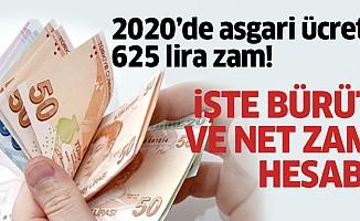 2020'deasgari ücrete 625 lirazam