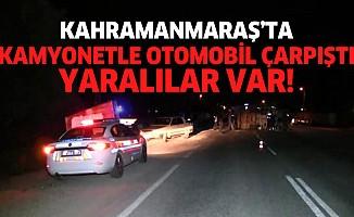 Kahramanmaraş'ta trafik kazası: yaralılar var