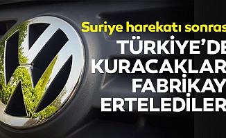 Alman otomotiv devi Türkiye'de kuracakları fabrikayı erteledi!