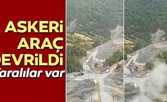 Hatay'daaskeri araçdevrildi: 7 asker yaralı