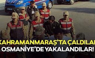 Kahramanmaraş'ta çaldılar osmaniye'de yakalandılar!