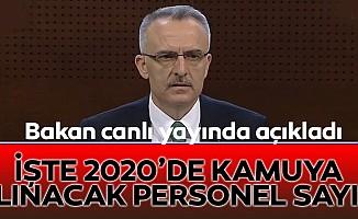 Naci Ağbal 2020 için rakam verdi!
