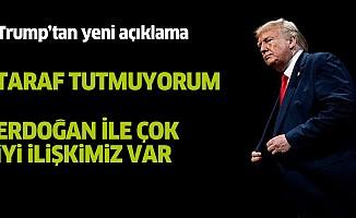 Trump:Suriye'de taraf tutmuyorum, Erdoğan'la çok iyi bir ilişkimiz var