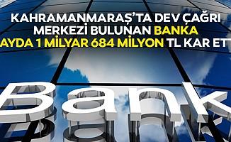 Kahramanmaraş'ta dev çağrı merkezi bulunan banka 9 ayda 1 milyar 684 milyon tl kar etti!