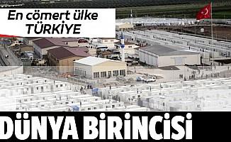 """""""Türkiye, insani ve kalkınma yardımlarında dünyada birinci sırada"""""""