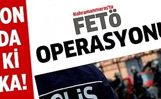 Kahramanmaraş merkezli FETÖ operasyonu! Gözaltılar var