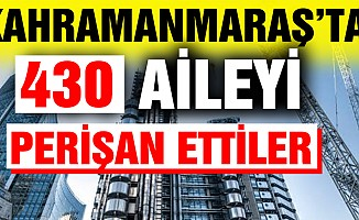 Kahramanmaraş'ta Ayden İnşaat Mağdurları çileden çıktı!