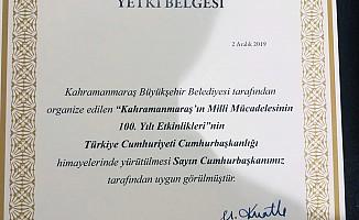 Kahramanmaraş'ın Kurtuluşu Cumhurbaşkanı'nın Himayesinde gerçekleşecek
