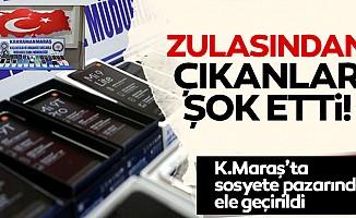 Kahramanmaraş'ta seyyar tezgah zulasından çıkanlar şok etti!