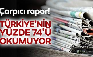 Türkiye'nin yüzde 74'ü okumuyor