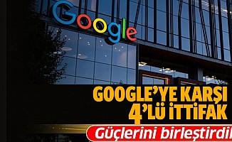 Google'a karşı 4'lü ittifak!