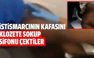 Kız çocuğuna cinsel istismarda bulunan mahkumun kafasını klozetin içine koyup sifonu çektiler