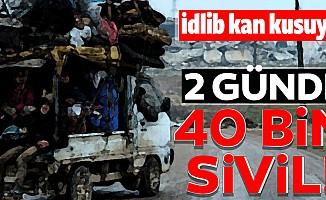 Son 2 günde 40 bin sivil daha Türkiye sınırı yakınlarına göç etti