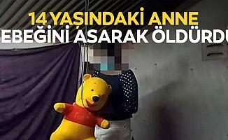 14 yaşındaki anne bebeğini asarak öldürdü