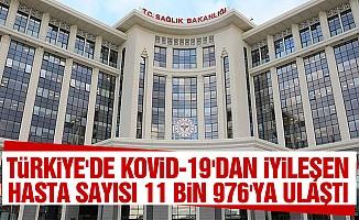 Türkiye'de Kovid-19'dan İyileşen Hasta Sayısı 11 Bin 976'ya Ulaştı