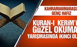Kahramanmaraşlı Genç Hafız Kuran-I Kerim'i Güzel Okuma Yarışmasında İkinci Oldu