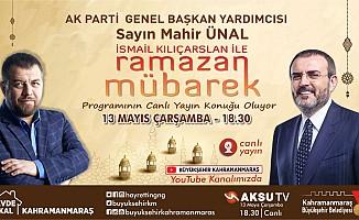 Ramazan Mübarek'in konuğu Mahir Ünal olacak