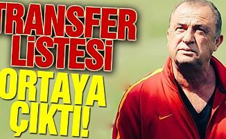 Galatasaray'ın transfer listesi ortaya çıktı!