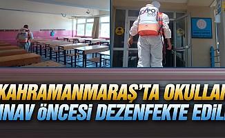 Kahramanmaraş'ta okullar sınav öncesi dezenfekte edildi