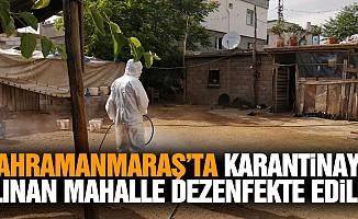 Yiğitler Mahallesi dezenfekte edildi