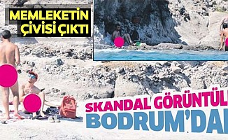 Bodrum'dan skandal görüntüler! Garip partiler düzenliyor, çırılçıplak denize giriyorlar...