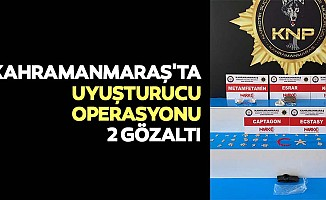 Kahramanmaraş'ta uyuşturucu operasyonu, 2 gözaltı
