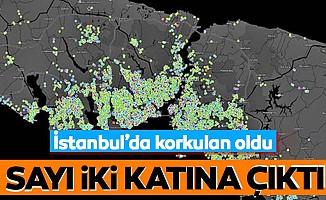 Sayı iki katına çıktı! İstanbul'da korkulan oldu