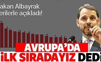 Hazine ve Maliye Bakanı Berat Albayrak'tan sanayi üretimi endeksi mesajı! Türkiye Avrupa'da ilk sırada!