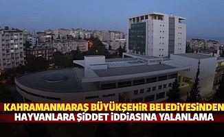 Kahramanmaraş Büyükşehir Belediyesinden Hayvanlara Şiddet İddiasına Yalanlama