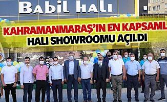 Kahramanmaraş'ın en kapsamlı halı showroomu açıldı