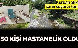 Kocaeli'de kurban atıkları içme suyuna karıştı! 150 kişi hastanelik oldu!