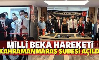 Milli Beka Hareketi Kahramanmaraş Şubesi açıldı