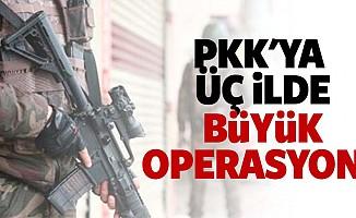 PKK'ya 3 ilde büyük operasyon!