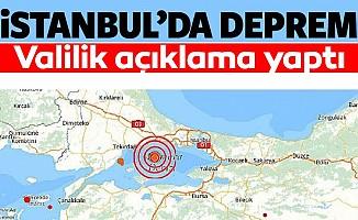 İstanbul deprem oldu!