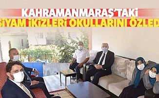 Kahramanmaraş'taki siyam ikizleri okullarını özledi