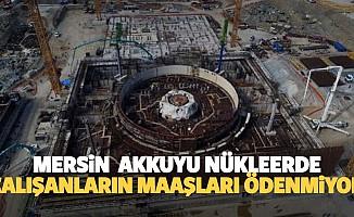 Mersin Akkuyu nükleerde çalışanların maaşları ödenmiyor