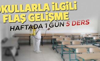 Okulların açılması hakkında MEB'den flaş yazı; Haftada bir gün 5 ders
