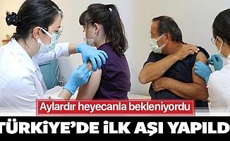 Türkiye'de ilk koronavirüs aşısı bugün yapıldı!