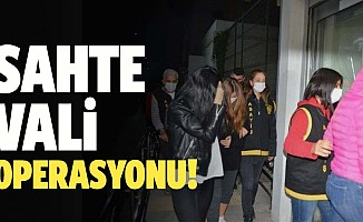 Adana merkezli sahte vali operasyonu