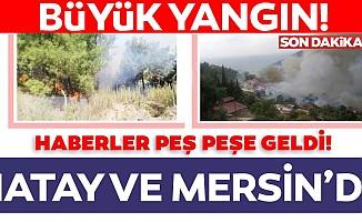 Hatay ve Mersin'de büyük yangın