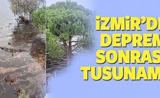 İzmir Seferihisar'da meydana gelen 6,6 büyüklüğündeki deprem sonrası tsunami de oluştu