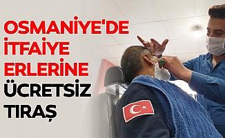 Osmaniye'de itfaiye erlerine ücretsiz tıraş
